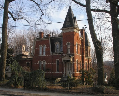 Located At The Intersection Of Center And Main Streets In Federal Hill Area Bristol A Miniature Castle Featuring Elements Gothic Revival