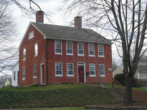 Historic buildings of connecticut wethersfield for Colonial brick