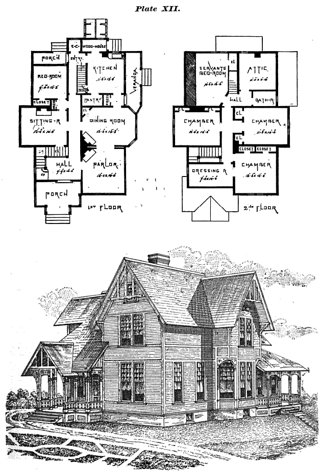 Historic buildings of connecticut stick archives for Eastlake house plan