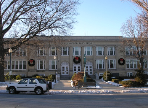 Wallingford CT Town Hall, formerly Lyman Hall High School