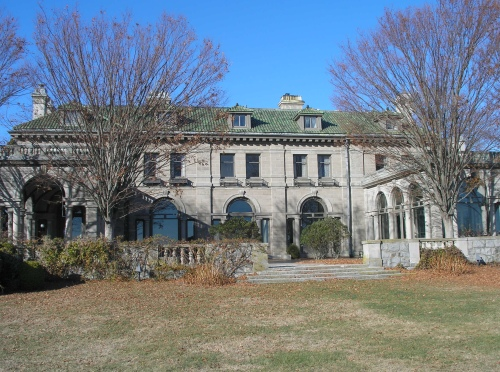 rear of the mansion