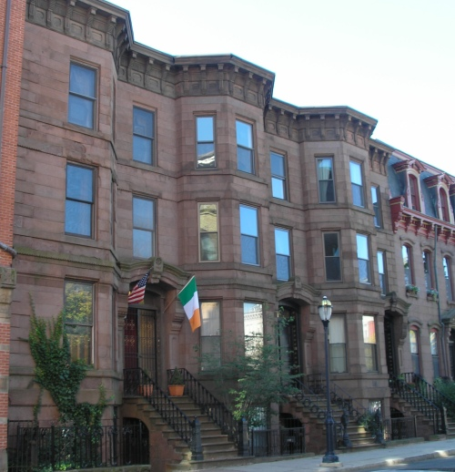 Brownstone Row Houses, Hartford