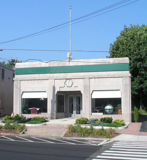 ... The Art Deco Style Building At 221 Montowese Street In Branford Was  Built C. 1925 1930 By Connecticut Light U0026 Power Company. The Terrazzo Entry  Floor ...