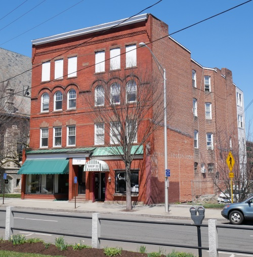 At 111 Main Street In Danbury Is A Commercial And Apartment Building  Erected In 1890 1891. The Upper Stories Of The Front Facade Feature  Different Window ...